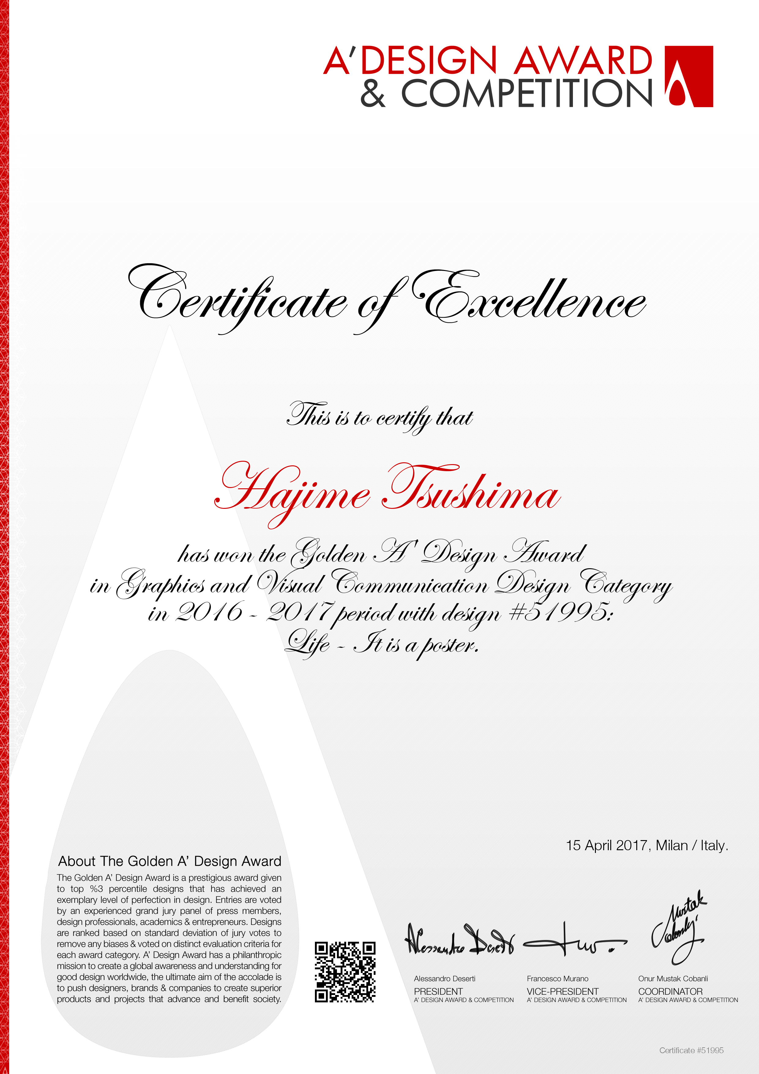 A design award competition gold 51995 certificate wy yelopaper Images